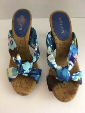 6206963b3 Women's Unisa Blue Green And Brown Sandal High Heels Size ...