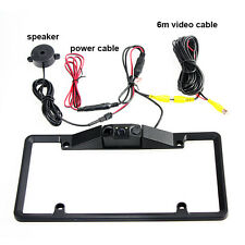 HD Car Licence Plate Rearview Camera View Backup Frame Parking Line Night Vision