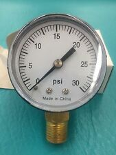 "0-30 PSI Pool Spa Filter Pressure Gauge 2"" Face 1/4"" FREE SHIP Easy to Read"