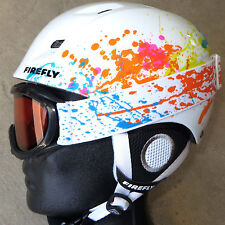 NEW $100 Firefly Girls Skiing Winter Sports white ski Helmet & Snow Goggles pink