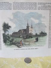 Vintage Print,ST.BONIFACE CATHEDRAL,Red River,British America