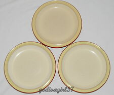 Denby Fire * 3 SALAD PLATES * Cream & Yellow, 1 Slightly Darker Color, EXC