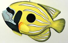 Metal Tropical Yellow Fish Nautical Birdhouse Outdoor & Patio Nautical Decor
