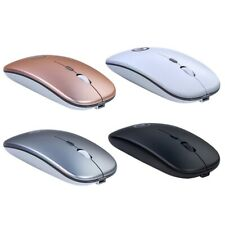 Bluetooth Rechargeable Mute Wireless Mouse with Colorful Light for Laptop