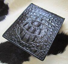 Mens wallet Crocodile Genuine Mulberry Black Crocodile  Men's Leather