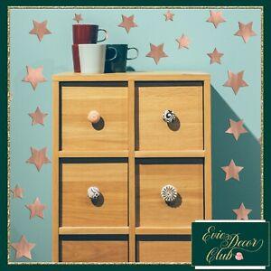 Rose Gold Mirror Stars Wall Stickers Decal Child Vinyl Art Decor Spots  Baby