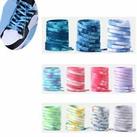 Tie dye Shoelaces Colorful Coloured Flat Round Bootlace Sneaker Shoe Laces AU