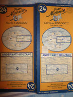 Carte  MICHELIN andermatt bolzano 1952