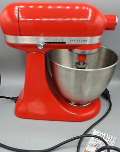 KitchenAid Refurbished 3.5-Quart Artisan Mini Tilt-Head Stand Mixer Hot Sauce
