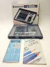 Vintage Staedtler Marsmatic 700 S7 Technical Pens w/Case INCOMPLETE Set