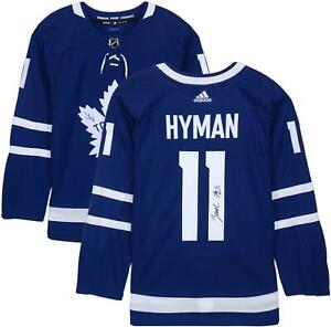 Zach Hyman Toronto Maple Leafs Autographed Blue Adidas Authentic Jersey
