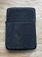 WWII Original Black Crackle Zippo Lighter 3 Barrel Hinge 14 Hole Black Insert
