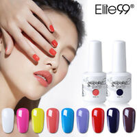 Elite99 Nail Art Soak Off Colour Gel Polish Base Top Coat 15ml Lacquer Manicure