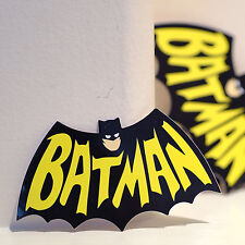 "Retro Batman cartoon art Vintage comics logo waterproof 4x2"" DECAL STICKER #1272"