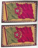 [42939] SET OF 2 TOBACCO FELTS FLAG OF PORTUGAL