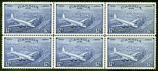 Canada #CE3 17c Bright Ultramarine 1946 Air Mail Special Dely *MNH* Block of 6