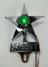 Safety Star License Plate Topper, Dual Function Green LED, VTG Car Accessory