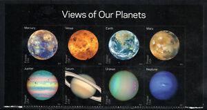 Sc# 5076a (47 Cent) View of the Planets (2016) Unused Blk/8 SCV $12.00