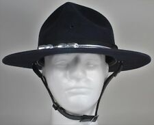5xxxxx BEAVER QUALITY Campaign/Trooper Hat - Dark Blue w/Silver Acorn Band 7 5/8