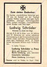 STERBEBILD  AVIS  DE  DECES  SOLDAT  ALLEMAND  NORMANDIE 1944   ( 104 )
