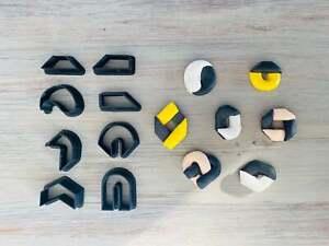 Geometric Stud Earrings Cutter Set, Polymer Clay Cutter Mini, Cutters for Studs