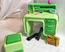 Mattel Barbie Original Dream Furniture Collection Desk & Seat w/ Accessories