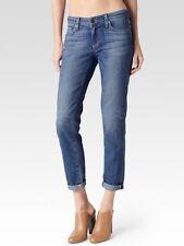 NWT PAIGE 'Jimmy Jimmy Crop' Boyfriend Mid Rise Jeans in Clara Blue SZ 27 $199