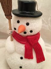 """Dept 56 Snowman Candle Wax 7 1/2"""" Christmas Holiday Figurine Decorations Decor"""