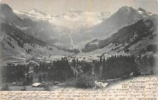 ADELBODEN DER WILDSTRUBEL TO INTERLAKEN SWITZERLAND POSTCARD 1902