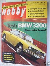 HOBBY 1962-22, TEST BMW 3200CS,FALCO F 8-L,STEYR PUCH HAFLINGER,VENUS,ANTRIEB