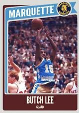 Custom Card Butch Lee Marquette Warriors NCAA Legends