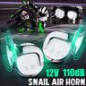 Chrome 110dB Super Loud Car Motorcycle Dual Tone Siren Electric Snail Horn 12V