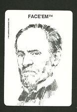 William T Sherman Cump Civil War General 1989 Face 'Em Collector Card