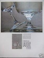 PUBLICITÉ 1967 VERRES BROC CRISTAL LALIQUE - SERVICES CHENONCEAUX - ADVERTISING