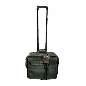 "Tumi 2202D3 Black Ballistic Nylon 17"" Rolling Wheeled Laptop Briefcase Luggage"