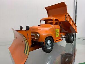 vintage tonka 57 hi-way dump truck with Snow plow original