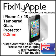 iPhone 4 4S 0.2mm Slim Premium Tempered Glass Screen Protector Guard Clear Film