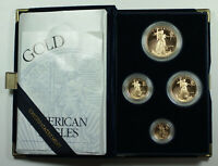 1994 American Eagle Gold Proof 4 Coin Set AGE in US Mint Box w/ COA