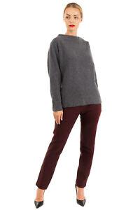 RRP €230 CHARLI Jumper Size XS Wool & Yak Blend Melange Effect Stand-Up Collar