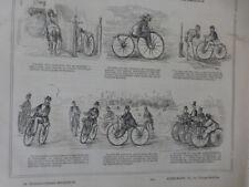 1867 VELO VELOCIPEDE MICHAUX SPORT CROQUIS TOUR