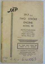JAP Model 80 79.7cc Two Stroke Engine SB/R/16 Illustrated Handbook Parts List