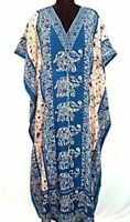 Hippy Boho Maxi New Long Kaftan Dress Free Size Women Caftan Elephant Gown
