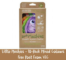 Genuine Little Mashies Reusable Food Pouches 10-Pack | FREE Post | Mixed Colours