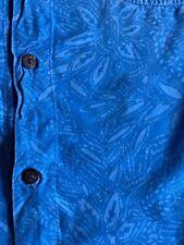 BLUE GINGER HAWAIIAN DESIGNS RAYON ALOHA HAWAII SHIRT W/ COCONUT BUTTONS XL