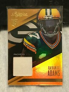 2014 Panini Prestige Rookie RC GOLD PRIME Jersey Patch SP DaVante Adams (GB)
