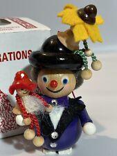 Steinbach Wooden Christmas Ornament Hand Made Germany Puppet Showman NIB
