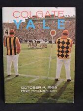 COLGATE  VS YALE COLLEGE FOOTBALL PROGRAM OCTOBER 4, 1969