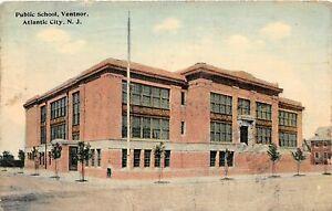 H59/ Atlantic City New Jersey Postcard 1913 Public School Ventnor