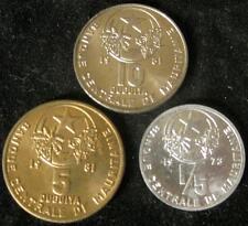Mauritania 3 pc BU set 1973,1981 1/5, 5, 10 Ouguiya #78