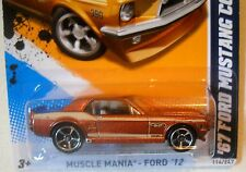 2012 Hot Wheels MUSCLE MANIA FORD #116 * '67 FORD MUSTANG COUPE * GREAT LOOKING